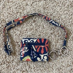 Vera Bradley small wallet and chain
